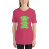 """Gummy Pug Green"" Women's Short Sleeve Jersey Tee"