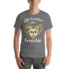 """Life is Better with a Frenchie"" Men's Short Sleeve Jersey Tee"