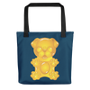 """Gummy Pug - Yellow"" All-Over Print Tote Bag"