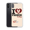 """I Love French Bulldogs"" Phone Case for iPhone"