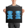 """Gummy Pug Blue"" Premium Luster Photo Paper Unframed Poster"
