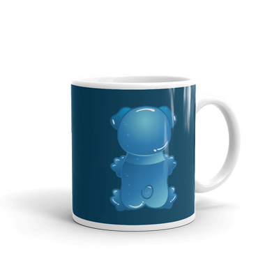 """Gummy Pug Blue"" Ceramic Mug"