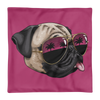 """California Pug"" Decorative Square Pillow Case Without Stuffing"