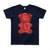 """Gummy Pug Red"" American Apparel Short Sleeve Kids T-Shirt (8 to 12 year olds)"