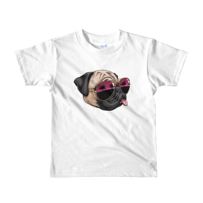"""California Pug"" American Apparel Short Sleeve Kids T-Shirt (2 to 6 year olds)"