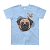 """What the Pug!"" American Apparel Short Sleeve kids T-Shirt (8 to 12 Year Olds)"