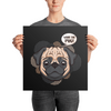 """What the Pug"" Premium Luster Photo Paper Unframed Poster"