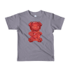 """Gummy Pug Red"" American Apparel Short Sleeve Kids T-Shirt (2 to 6 year olds)"