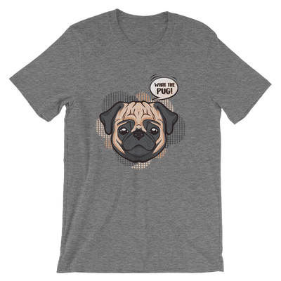 """What the Pug!"" Men's Short Sleeve Jersey Tee"