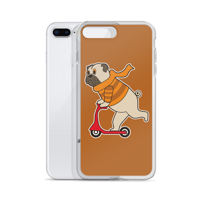 """Scooter Pug"" Phone Case for iPhone"