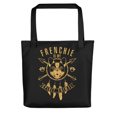 """Frenchie is my Spirit Animal"" All-Over Print Tote Bag"
