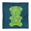 """Gummy Pug Green"" Decorative Square Pillow Case Without Stuffing"