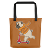 """Scooter Pug"" All-Over Print Tote Bag"