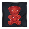 """Gummy Pug Red"" Decorative Square Pillow Case Without Stuffing"