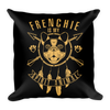 """Frenchie is my Spirit Animal"" Decorative Square Pillow Case With Stuffing"