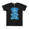 """Gummy Pug Blue"" American Apparel Short Sleeve Kids T-Shirt (8 to 12 year olds)"