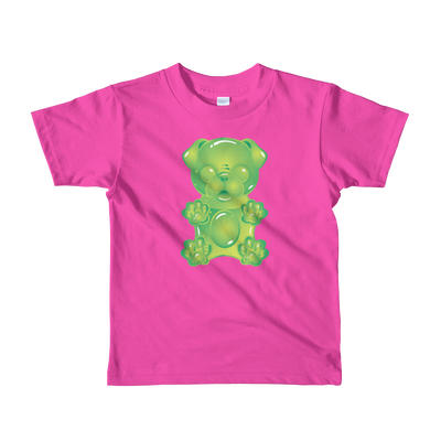 """Gummy Pug Green"" American Apparel Short Sleeve Kids T-Shirt (2 to 6 year olds)"