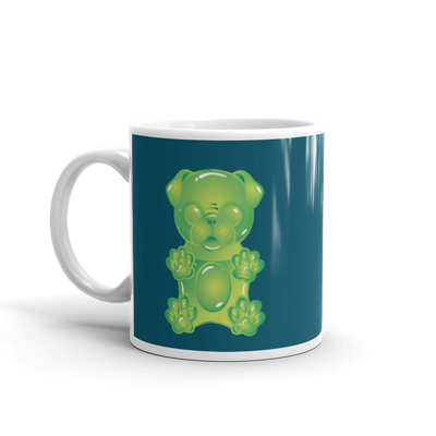 """Gummy Pug Green"" Ceramic Mug"