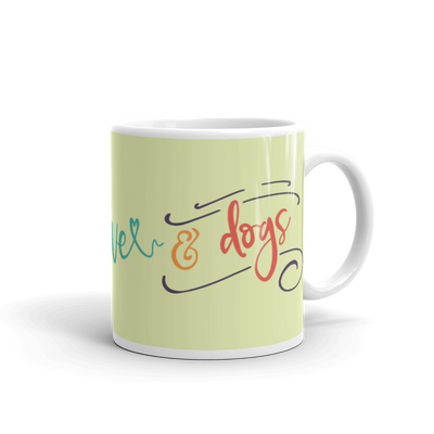 """Peace, Love & Dogs"" Ceramic Mug"