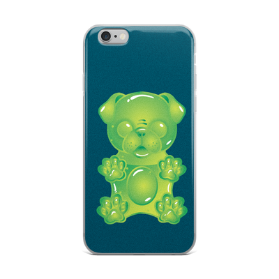 """Gummy Pug Green"" Phone Case for iPhone"