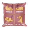 """BAG OF CHIPS"" DECORATIVE SQUARE PILLOW CASE WITH STUFFING"