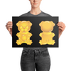 """Gummy Pug - Yellow"" Premium Luster Photo Paper Unframed Poster"