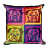 """Pop Pug Art"" Decorative Square Pillow Case with Stuffing"