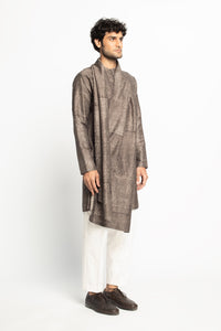 Monk Drape Kurta Set