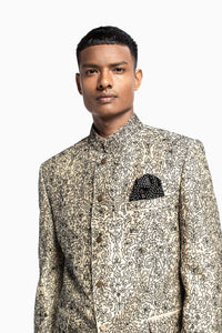 Jamewar Bandhgala Suit