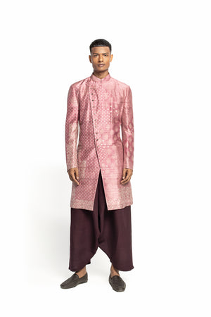 Dry Rose Ajrakh Kurta Set