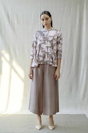Cropped Silk Culottes