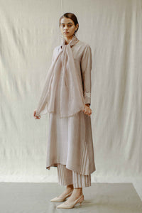 Mud Rose Front Pleat Tunic
