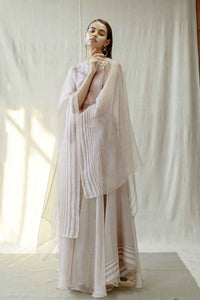 Organza Striped Cape Set