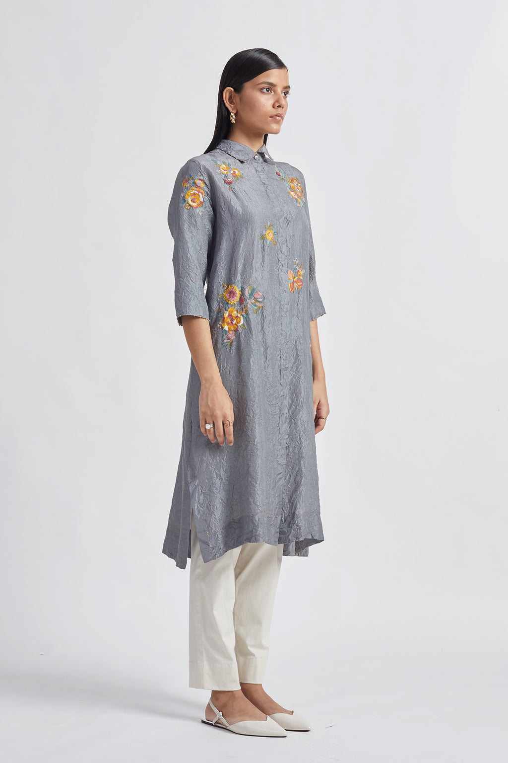 Flora Crushed Tunic