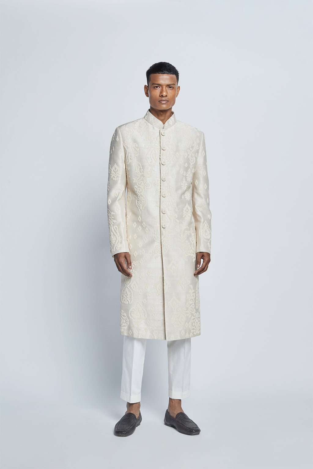 Pearl Embroidered Sherwani Set