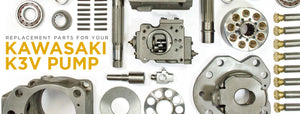 Kawasaki K3V Series Replaacement Parts | K3V63, K3V112, K3V140 Units