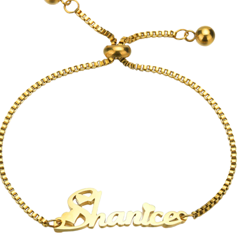 Adjustable Chain Name Bracelet