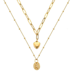 Payton Initial Layered Necklace