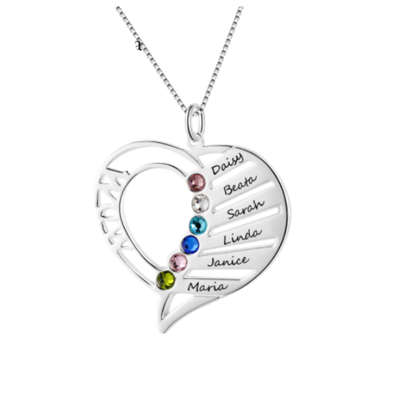 Emilie Sterling Silver Name Necklace