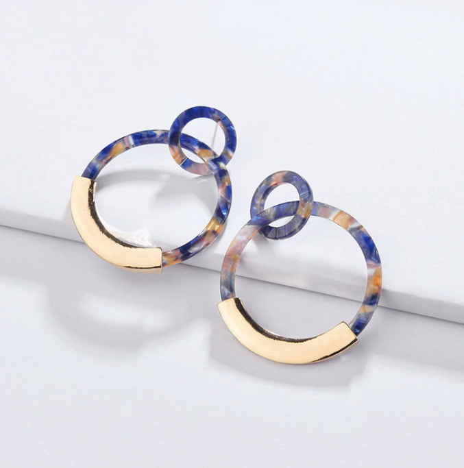 Adele Resin Hoop Earrings