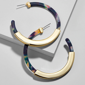 Monica Resin Hoop Earrings