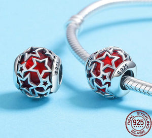 Pandora style STAR STERLING charm