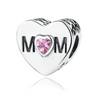 Pandora style DIAMOND HEART STERLING charm