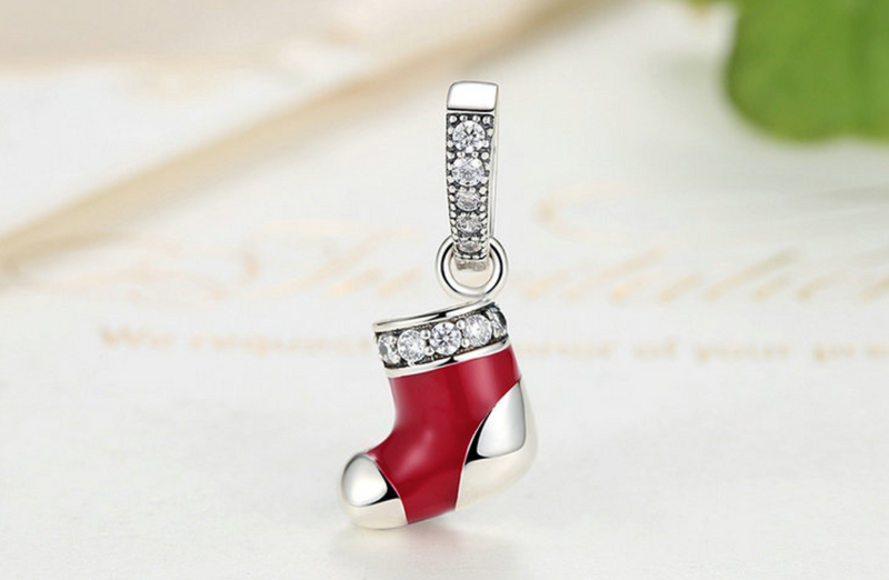 Pandora style DIAMOND SHOE STERLING charm