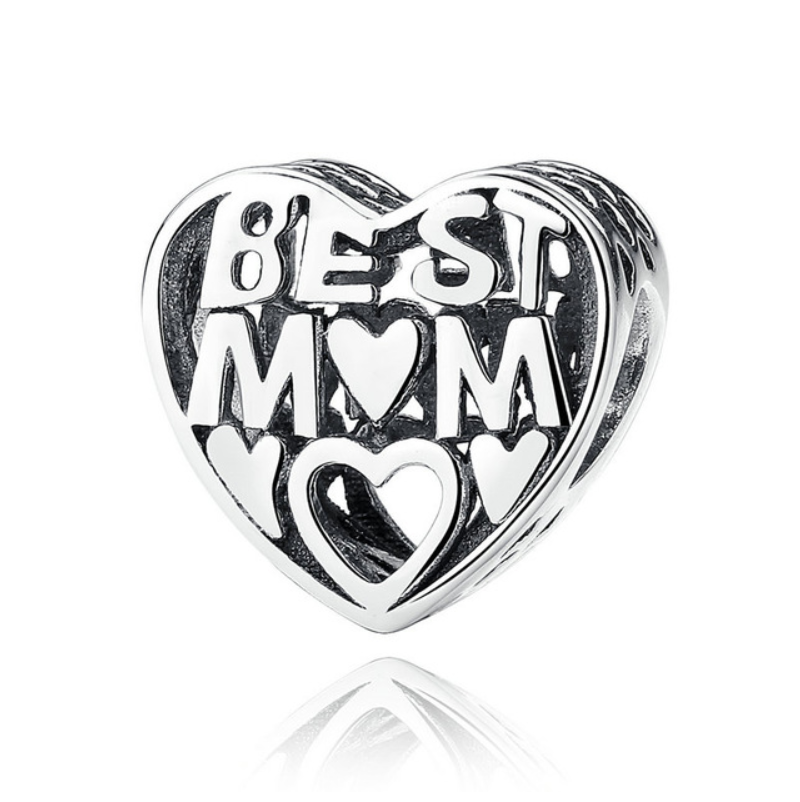 Pandora style BEST MOM STERLING charm