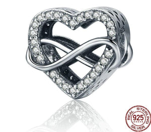 Pandora style HEART STERLING charm