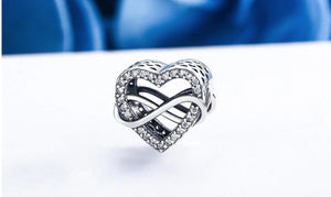 INFINITY STERLING SILVER CHARM
