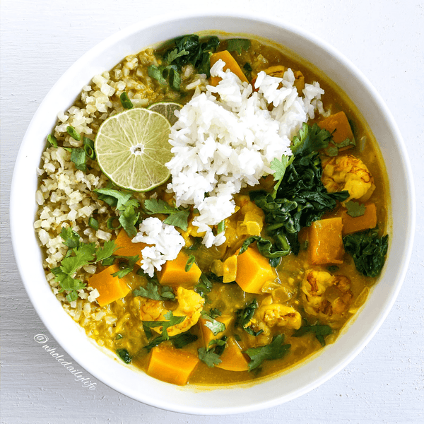 Easy Pumpkin Butternut Curry (Paleo, Whole30)