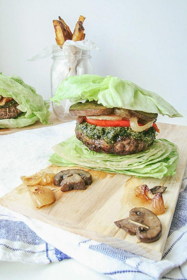 Pesto Shroomie Burger