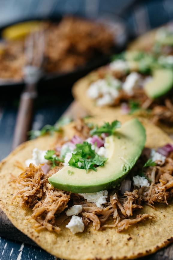 Traditional Carnitas Tostada